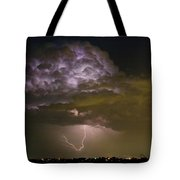 Lightning Thunderstorm With A Hook Tote Bag