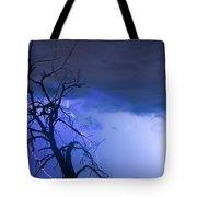 Lightning Tree Silhouette 38 Tote Bag