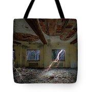 Lightnings On The Abandoned Hotel Of Liguria Mountains - Fulmini Su Hotel Abbandonato Sull'av Tote Bag