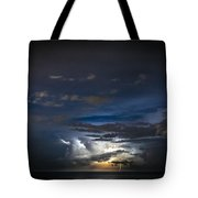 Lightning's Water Dance Tote Bag by Steven Santamour