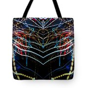 Lightpainting Panorama Print Photograph 3 Tote Bag