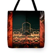 Lightpainting Quads Art Print Photograph 1 Tote Bag