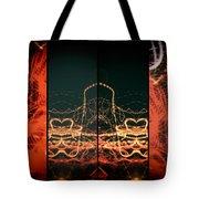 Lightpainting Quads Art Print Photograph 1 Tote Bag