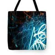 Blue Fuzz Of Depth Tote Bag