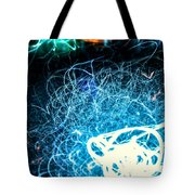 Neon Fuzz Ball Tote Bag