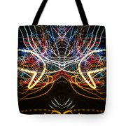 Lightpainting Symmetry Wall Art Print Photograph 1 Tote Bag