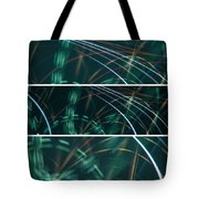 Green Film Grain Lightpainting Abstract Tote Bag