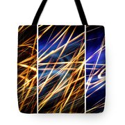 Lightpainting Triptych Wall Art Print Photograph 6 Tote Bag