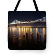 Lights By The Bay Tote Bag