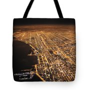 Lights Of Chicago Burn Brightly Tote Bag