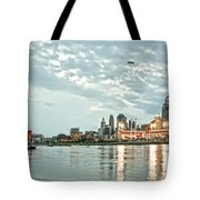 Lights Of Reds Game Tote Bag