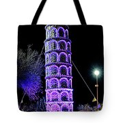 Lights Of The World Leaning Tower Of Pisa Tote Bag