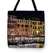 Lights Of Venice Tote Bag