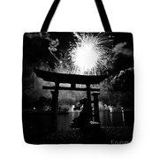 Lights Over Japan Tote Bag