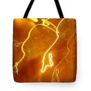 Lights That Eat Trees Tote Bag