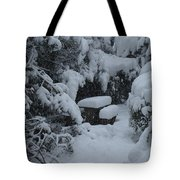 A Snowy Secret Garden Tote Bag