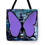 Lila Papillon Tote Bag