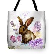 Lilac And Bunny Tote Bag
