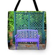 Lilac And Teal Garden Tote Bag