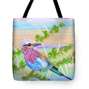 Lilac Breasted Roller In Thorn Tree Tote Bag