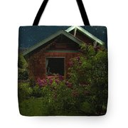 Lilac Cottage By Moonlight Tote Bag