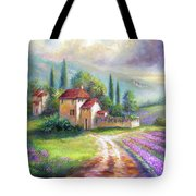 Lilac Fields In The Italian Countryside   Tote Bag