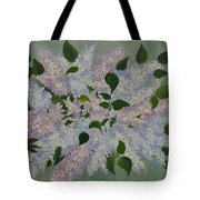 Lilac Flowers Expressing Harmony Tote Bag