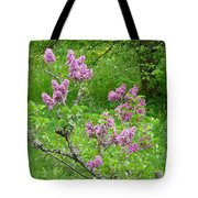 Lilac In The Spring Meadow Tote Bag