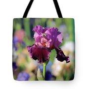 Lilac Iris In Bloom Tote Bag