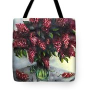 Lilac Original Flower Painting Tote Bag