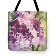Lilacs - Note Card Tote Bag