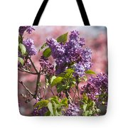 Lilacs And Dogwoods Tote Bag