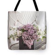 Lilacs Tote Bag by Beverly Cazzell