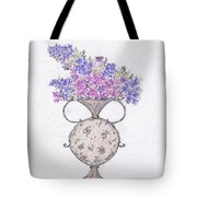 Lilacs In An Urn Tote Bag by Christine Corretti