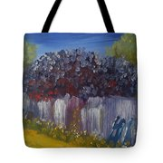 Lilacs On A Fence  Tote Bag