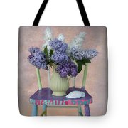 Lilacs With Chair And Shell Tote Bag