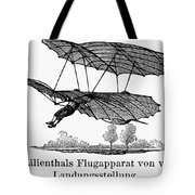 Lilienthal Glider, 1895 Tote Bag