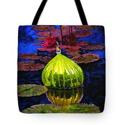 Lilies And Glass Reflections Tote Bag