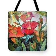 Lilies And Hummingbird Tote Bag