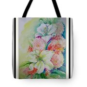 Lilies And Mums Tote Bag