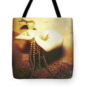 Lilies And Pearls Tote Bag