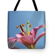 Lilies Art Prints Pink Lily Flower Giclee Art Prints Baslee Troutman Tote Bag