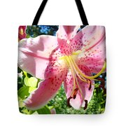 Lilies Art Prints Pink Lily Flowers 2 Giclee Prints Baslee Troutman Tote Bag