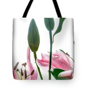 Pink Oriental Starfire Lilies Tote Bag