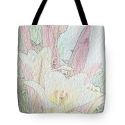 Lilies. Flowers And Buds. Tote Bag