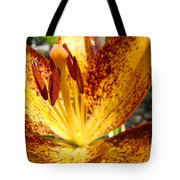 Lilies Glowing Orange Lily Flower Floral Art Print Canvas Baslee Troutman Tote Bag