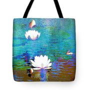 Lilies In Abstract Tote Bag