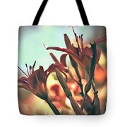 Orange Lilies Of The Day Tote Bag