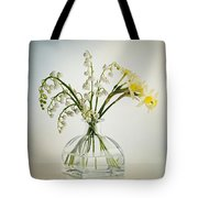 Lilies Of The Valley In A Glass Vase Tote Bag