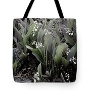 Lilies Of The Valley Mindscape No 2 Tote Bag